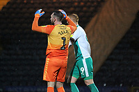 Josh Lillis (Rochdale AFC) makes an error leading to a Plymouth goal during the Sky Bet League 1 match between Rochdale and Plymouth Argyle at Spotland Stadium, Rochdale, England on 15 December 2018. Photo by James  Gill / PRiME Media Images.