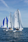 Cedar Point Yacht Club's One Design Regatta, held on May 31 and June 1, 2014 in Westport, CT. Seven classes of sailboat - Beneteau First 36.7, Soverel 33, Viper 640, J109, J105, J70 and J30 -  participated in the regatta races on Long Island Sound.