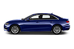 Car Driver side profile view of a 2020 Audi A4-Sedan Premium 4 Door Sedan Side View