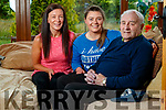 Patrick McKenna, Gortatlea, who recovered from Covid-19 pictured with his daughter Marie and grandaughter Amy.