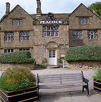 The stone exterior of The Peacock, the newly opened inn and restaurant on the Haddon estate