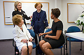 """July 12, 2011<br /> """"Chuck Kennedy covered the funeral of former First Lady Betty Ford at St. Margaret's Episcopal Church in Palm Desert, California.  In attendance were three former First Ladies as well as the current First Lady, all shown here backstage, from left: Nancy Reagan, Hillary Rodham Clinton, Rosalynn Carter and Michelle Obama."""" <br /> Mandatory Credit: Chuck Kennedy - White House via CNP"""