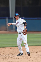 Jake Jefferies #4 of the Cal State Fullerton Titans plays second bases during a game against the Washington State Cougars at Goodwin Field on  February 15, 2014 in Fullerton, California. Washington State defeated Fullerton, 9-7. (Larry Goren/Four Seam Images)