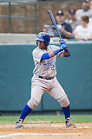Meibrys Viloria (29) of the Burlington Royals at bat against the Pulaski Mariners at Calfee Park on June 20, 2014 in Pulaski, Virginia.  The Mariners defeated the Royals 6-4. (Brian Westerholt/Four Seam Images)