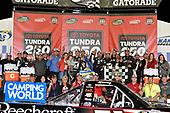 NASCAR Camping World Truck Series<br /> Toyota Tundra 250<br /> Kansas Speedway, Kansas City, KS USA<br /> Friday 12 May 2017<br /> Kyle Busch, Cessna Toyota Tundra celebrates his win in Victory Lane<br /> World Copyright: Nigel Kinrade<br /> LAT Images<br /> ref: Digital Image 17KAN1nk07163