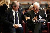 Italian magistrates Antonio Di Pietro and Gian Carlo Castelli<br /> Rome February 18th 2020. Senate. Event 'United against the corruption'.<br /> Foto Samantha Zucchi Insidefoto