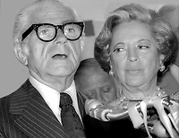 Abe Beame and wife 1977<br /> Photo By Adam Scull/PHOTOlink.net