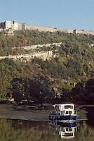 Europe/France/Franche-Comté/25/Doubs/Besançon: La citadelle sur les bords du Doubs et navigation fluviale