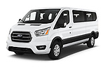 2020 Ford Transit XLT 4 Door Passenger Van Angular Front automotive stock photos of front three quarter view