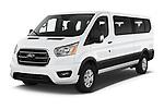2020 Ford Transit XLT 4 Door Passenger Van Angular Front automotive stock photos of front three quarter view