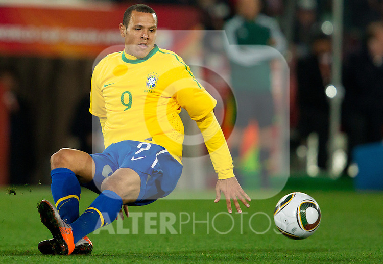 Luis Fabiano of Brazil  during the 2010 FIFA World Cup South Africa. EXPA Pictures © 2010, PhotoCredit: EXPA/ Sportida/ Vid Ponikvar +++ Slovenia OUT +++