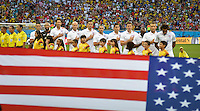 Salvador, Brazil - Tuesday, July 1, 2014: The US Men's National team during the first hallf of play in their knockout round match versus Belgium at Arena Fonte Nova.