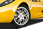 Tire and wheel close up detail view of a 2009 Lotus Elise SC 2 Door Convertible