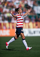 Carli Lloyd.  The USWNT defeated Costa Rica, 8-0, during a friendly match at Sahlen's Stadium in Rochester, NY.