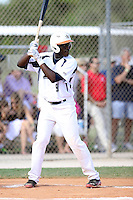 Dazmon Cameron, #9 of Eagles Landing Christian High School, GA playing for the East Cobb Baseball Team the WWBA World Championship 2013 at the Roger Dean Complex on October 26, 2013 in Jupiter, Florida. (Stacy Jo Grant/Four Seam Images)