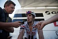 John Degenkolb (DEU/Giant-Alpecin) interviewed post-race<br /> <br /> st14: Montélimar - Villars-les-Dombes/Parc des Oiseaux (208.5km)<br /> 103rd Tour de France 2016