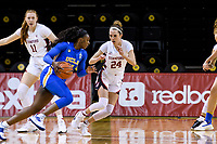 SANTA CRUZ, CA - JANUARY 22: Lacie Hull #24 during the Stanford Cardinal women's basketball game vs the UCLA Bruins at Kaiser Arena on January 22, 2021 in Santa Cruz, California.