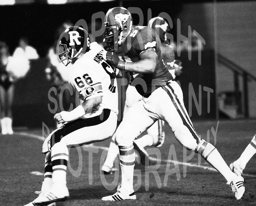 Jeff Inglis Calgary Stampeders 1983. Photo F. Scott Grant