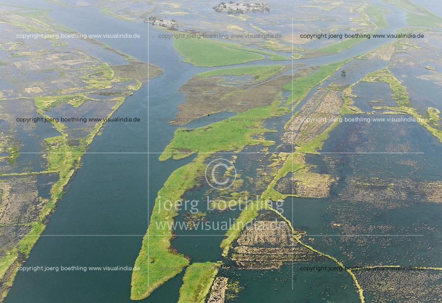 MALI, Gao, aerial view, river Niger and flooded area / Luftbild des Fluß Niger und Überschwemmungsgebiete
