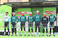 20th April 2021; Cycling Tour of the Alps Stage 2, Innsbruck, Feichten Im Kaunertal Austria; Matteo Fabbro Bora-Hansgrohe and team