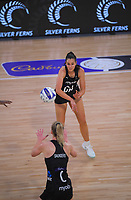 Silver Ferns Ameliaranne Ekenasio during the Cadbury Netball Series final between NZ Silver Ferns and NZ Men at the Fly Palmy Arena in Palmerston North, New Zealand on Saturday, 24 October 2020. Photo: Dave Lintott / lintottphoto.co.nz