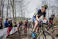 Jens Keukeleire (BEL/Orica-Scott) up Baneberg<br /> <br /> 79th Gent-Wevelgem 2017 (1.UWT)<br /> 1day race: Deinze › Wevelgem - BEL (249km)