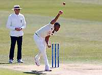 Kent's Miguel Cummins bowls during Kent CCC vs Lancashire CCC, LV Insurance County Championship Group 3 Cricket at The Spitfire Ground on 22nd April 2021