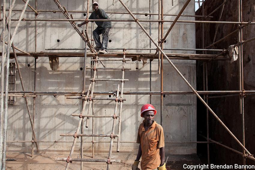 Construction on the Nairobi to Thika road.