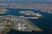 aerial photograph LaGuardia airport Queens New York