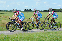SCHAATSEN: FRYSLAN: 06-07-2015, Shani Davis Beslist.nl, v.l.n.r. Pim Schipper, Jesper Hospes, Kai Verbij, Shani Davis, ©foto Martin de Jong
