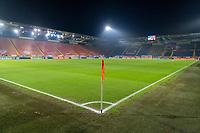 BREDA, NETHERLANDS - NOVEMBER 27: The field sits empty before a game between Netherlands and USWNT at Rat Verlegh Stadion on November 27, 2020 in Breda, Netherlands.