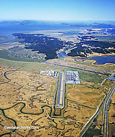 aerial photograph Gnoss Field airport Novato (DVO), Marin County, California