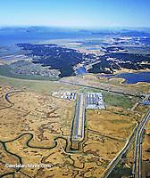 aerial photograph Gnoss Field airport Novato (DVO), Marin County, California