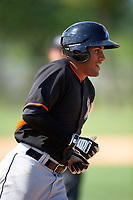 Miami Marlins Rony Cabrera (60) runs the bases after hitting a home run during a minor league Spring Training intrasquad game on March 31, 2016 at Roger Dean Sports Complex in Jupiter, Florida.  (Mike Janes/Four Seam Images)