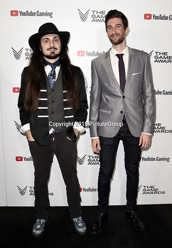 LOS ANGELES - DECEMBER 6: (L-R) Benjamin Laulan and Yoann Laulan attend the 2018 Game Awards at the Microsoft Theater on December 6, 2018 in Los Angeles, California. (Photo by Scott Kirkland/PictureGroup)