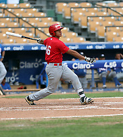 Agustin Ramirez participates in the MLB International Showcase at Estadio Quisqeya on February 22-23, 2017 in Santo Domingo, Dominican Republic.