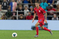 SAINT PAUL, MN - JUNE 18: Christian Pulisic of the United States during a 2019 CONCACAF Gold Cup group D match between the United States and Guyana on June 18, 2019 at Allianz Field in Saint Paul, Minnesota.