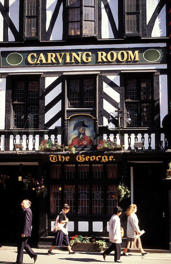 England. London.  The George Pub in Fleet Street