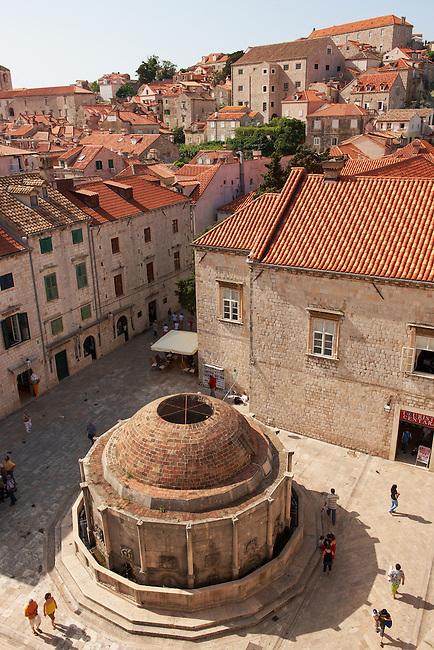Stock photos of The Big Onorrio's Fountain - Dubrovnik - Croatia