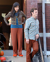 September 24, 2021.Constance Wu, Scoot McNairy filming on location for  Sony pictures Lyle Lyle Crocodile<br />   in New York September 24, 2021 Credit:RW/MediaPunch
