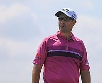 13th July 2021; The Royal St. George's Golf Club, Sandwich, Kent, England; The 149th Open Golf Championship, practice day; Padraig Harrington (IRE) walks from the 2nd green