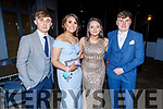 Jamie Lee, Caoimhe Reidy, Clodagh Begley and Dylan McHugh attending the CBS the Green Debs in the Ballyroe Heights Hotel on Monday night.
