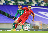 7th September 2020; Windsor Park, Belfast, County Antrim, Northern Ireland; EUFA Nations League, Group B, Northern Ireland versus Norway; Mohamed Elyounoussi of Norway turns Northern Ireland's Steven Davis