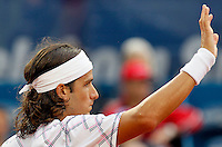Tenis, Serbia Open 2011.Final.Novak Djokovic (SRB) Vs. Feliciano Lopez (ESP).Feliciano Lopez, react.Beograd, 01.05.2011..foto: Srdjan Stevanovic