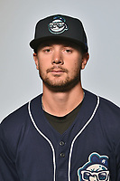Asheville Tourists infielder Max George (3) poses for a photo at Story Point Media on April 4, 2017 in Asheville, North Carolina. (Tony Farlow/Four Seam Images)