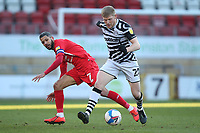 Elliott Whitehouse of Forest Green Rovers and Jobi McAnuff of Leyton Orient during Leyton Orient vs Forest Green Rovers, Sky Bet EFL League 2 Football at The Breyer Group Stadium on 23rd January 2021