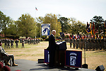 April 08, 2009. Ft. Bragg, NC.. Vice President Joe Biden welcomed home members of the 18th Airborne Corps who had been deployed in Iraq for the past 15 months in command of the Multi- National Corps..
