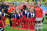 LE HAVRE, FRANCE - JUNE 20: United States during a 2019 FIFA Women's World Cup France group F match between the United States and Sweden at Stade Océane on June 20, 2019 in Le Havre, France.