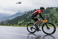 Pello Bilbao (ESP/Bahrain-Victorius) up the Col de la Colombière<br /> <br /> Stage 8 from Oyonnax to Le Grand-Bornand (150.8km)<br /> 108th Tour de France 2021 (2.UWT)<br /> <br /> ©kramon