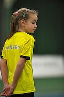 Januari 24, 2015, Rotterdam, ABNAMRO, Supermatch, ballgirl<br /> Photo: Tennisimages/Henk Koster